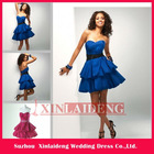 CTD002 graceful A-line sweeetheart blue taffeta Mini cocktail dress 2012