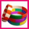 fashion mixed color rubber wristband