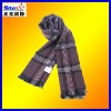 ST-SC06#2013winter men's red checked cotton/wool/cashmere tassel knitted jacquard scarf