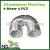ALUMINUM FLEXIBLE SILVER DUCT VENTILATION DUCTING 6 METER