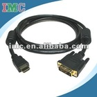 6 Ft Premium HDMI Male to DVI Male Cable (IMC-XIHDM-0328 )