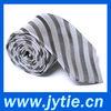 Grey Striped Man Necktie