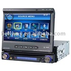 "7""Single Din car dvd player with detachable panel"