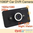 Full HD 1080P Car DVR Camera with Night Vision G-sensor