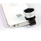 New silver fisheye camera lens for iphone 4 4s 4G