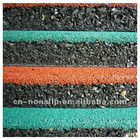 rubber mat with nylon flocked mat for outdoor playground