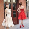 2011 new Princess Short beige wedding dress bridesmaid dress bridal wear LF599