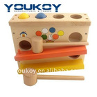wooden hitting ball education toys for kids