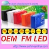 USB speaker with FM radio LED light function 958