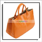 Stylish Women Orange Designer PU Leather Handbags