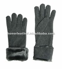 fleece gloves with fake fur