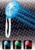 Three jets water flow LED Shower light by temperature 3 different color