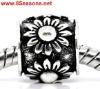 Silver Tone Flower Charm Beads Fit Charm Bracelet 11x9mm