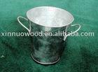 metal flower pots/bucket with 2 wire handle