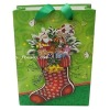 christmas stocking design gift shopping bag