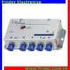 R-Serials 4 ways R-Serials Bi-directional CATV Signal Amplifier with 20dB gain adjustment