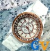 Luminous Rose Gold Bling Watches for Men and Women