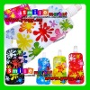 BPA-free hot selling 16OZ(480ml) 6colors flower pattern hot foldable sport water bottles with CARABINER