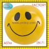 "2011 New inflatable beach ball 16"" with smile face"