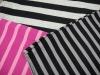 auto feeder stripe polyster cotton yarn dyed knitting fabric