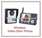 3.5 inch wireless digital color video door phone with one camera and one monitor
