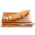 Bamboo Bread cutting board with knife set