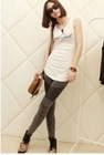 Casual Style Pure Color Pencil PantsGrey LF12092506
