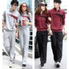 Slim couple models long-sleeved trousers leisure hedging sweater sportswear suit men and women spring autumn cotton Lover Clothe