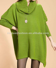 knit round collar bat-wing loose woman sweater