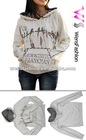Ladies Hoodie sweater /fashion printed pull over Hoody
