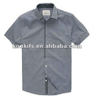 white and black check short-sleeve shirts for men