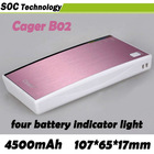 Most portable Power bank Cager B02 USB port For iphone ipad smartphone tablet pc various digital device and so on