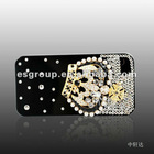 newly Mobile phone protection shell for Iphone 4 imperial crown with Drill diamond
