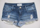 women fashion denim shorts