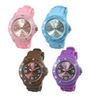 Popular multicolor fashion silicone watch for promotion