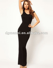 Vestidos Elegantes Maxi Dress with Cross Back
