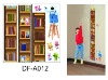 Bookshelf Height wall stickers for girls