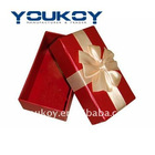 small gift packing paper box with silk ribbon(YK9905)