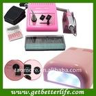 Pink 278 Nail Drill Machine Manicure and Nail Dryers UV Gel Lamp Kit 12V - Pink 278+UV lamp