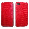 Croco pattern Leather Case for Apple iPhone 4 4S
