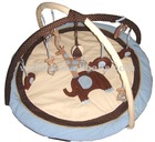 soft cotton with applique elephant baby play mat