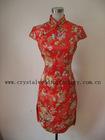 2012 Short sleeve knee length cheong-sam dress CWFax3577