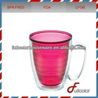 16oz AS double wall mug with handle
