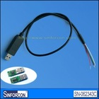 CP2102 USB UART RS232 level converter cable with RX,TX,VCC,GND,CTS,RTS pinout