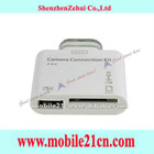 White 2 in1 USB Camera Connection Kit SD Card Reader for iPad 2
