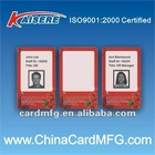 proximity rfid chip visual card