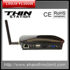 Linux PC station thin client 1080P HDMI CPU Dual Core 1Ghz