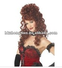 2012 Red Saloon Madame Wig halloween wigs