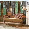 American antique style Brown color home furniture bedroom bench OMJ-898-36