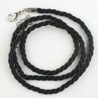 New wholesale black Braided Thread Nylon Cotton Cord Necklace Findings with hookers&clasps 53cm 130318